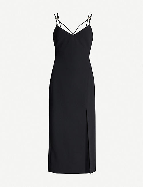 1e3d50ec DAVID KOMA Embellished double-strap crepe dress