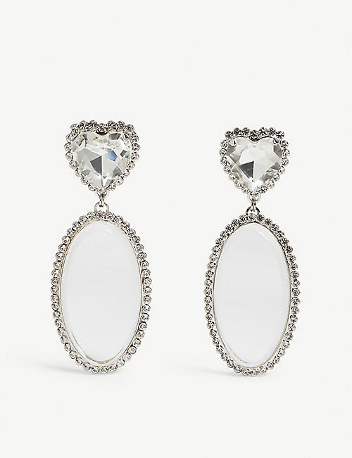 ALESSANDRA RICH Crystal drop earrings
