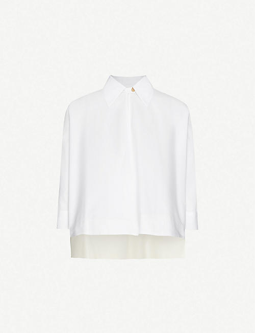 ROSETTA GETTY Slip-on cropped cotton shirt