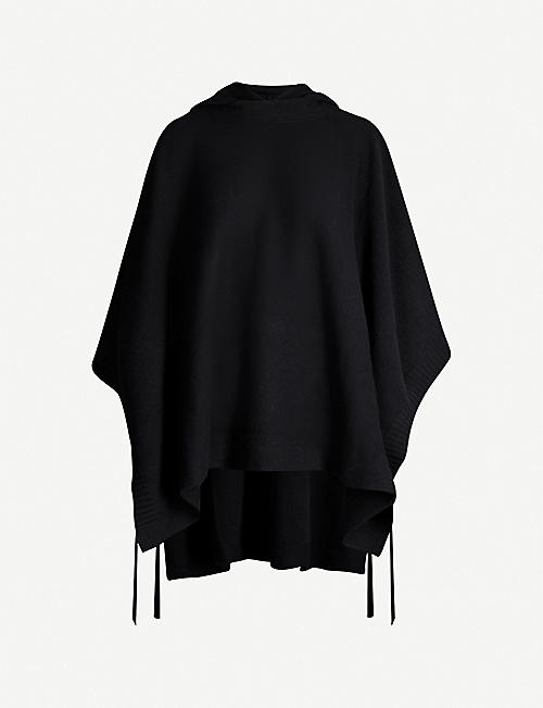ROSETTA GETTY Wool and cashmere-blend poncho