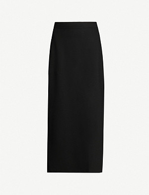 ROSETTA GETTY Split stretch-ponté midi skirt