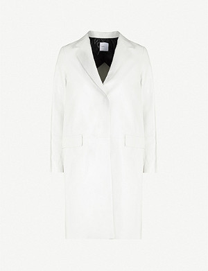 ROSETTA GETTY Tailored-fit notch-lapels leather coat