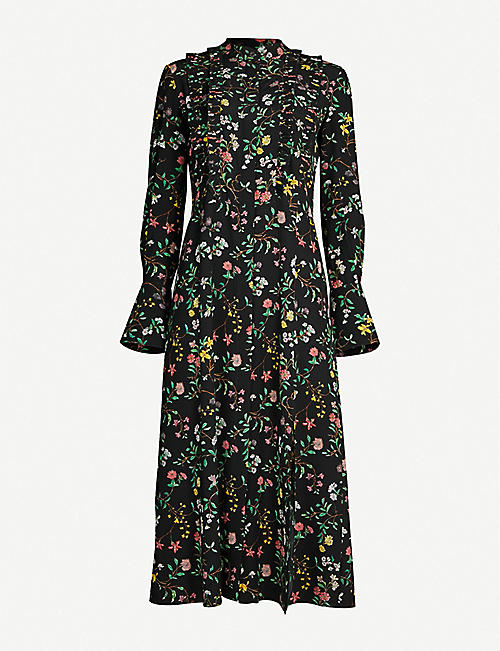 ALTUZARRA League flared floral-print silk midi dress