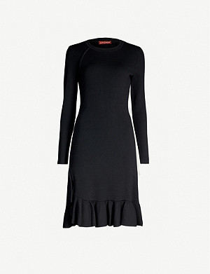 ALTUZARRA Mikey long-sleeved ribbed-crepe dress