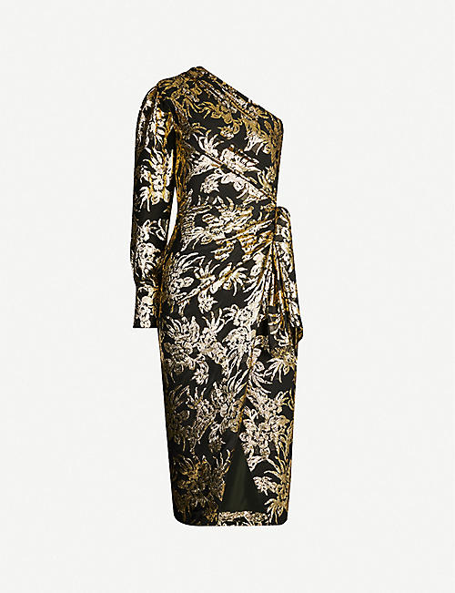 ALTUZARRA Chanda floral-embroidered silk-blend midi dress