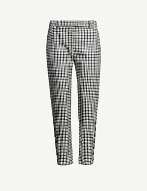 ALTUZARRA Tobyn checked cropped mid-rise stretch-wool trousers