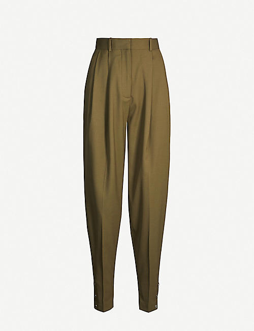 ALTUZARRA Atomica tapered high-rise stretch-wool trousers