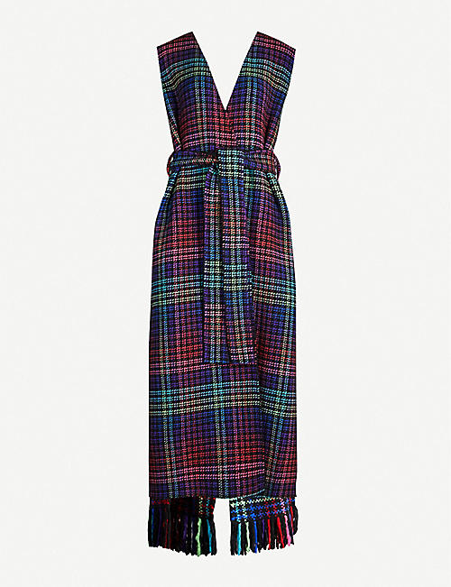 GABRIELA HEARST Guichon checked cashmere sleeveless coat