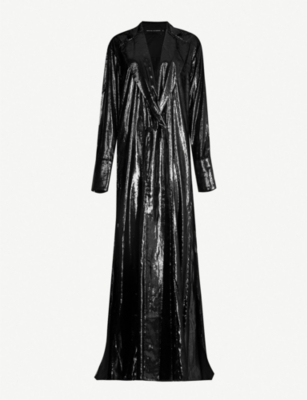 MICHAEL LO SORDO Side-split metallic velvet jacket