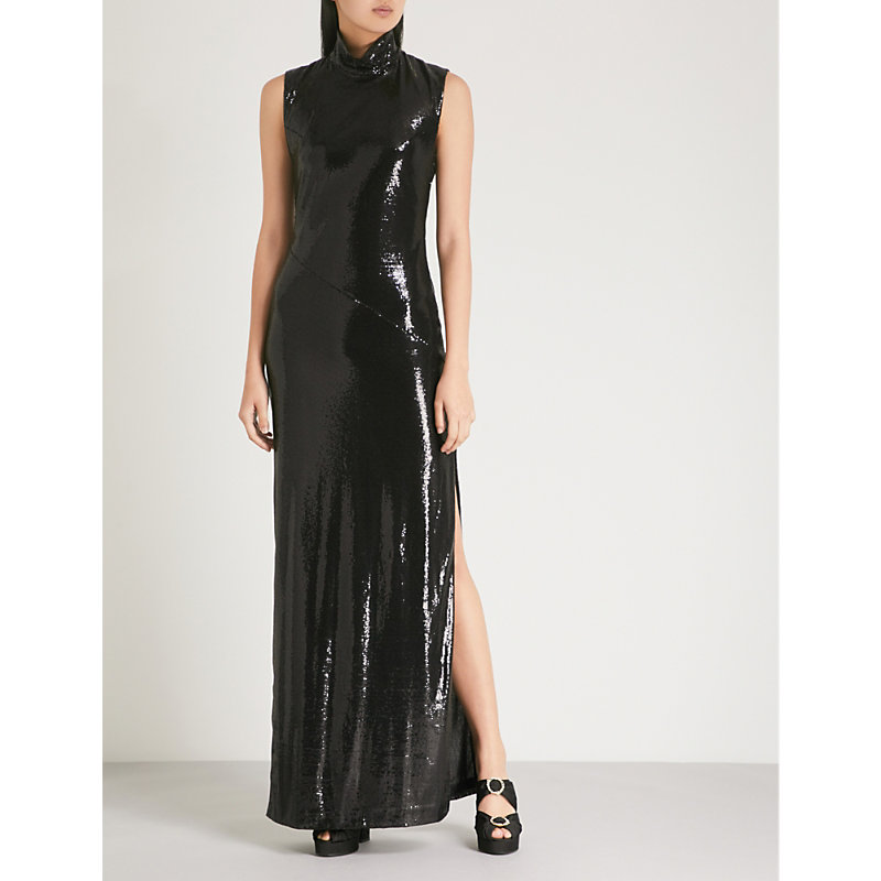 Galaxy Sequinned Dress in Blk