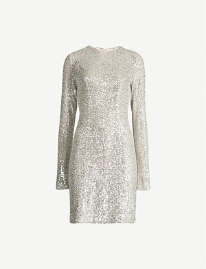 GALVAN Dusk sequinned mini dress