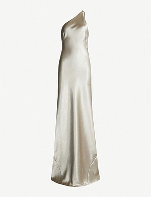 GALVAN Roxy sleeveless satin maxi dress