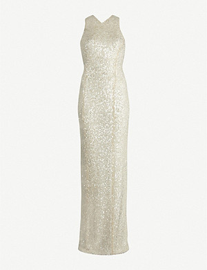 GALVAN Almalfi sequinned gown