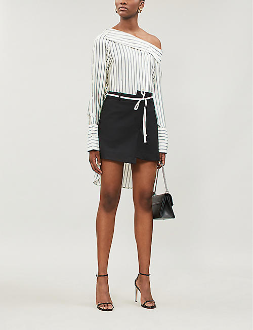 MONSE Striped satin shirt