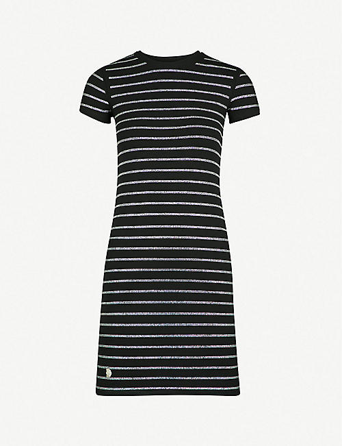 PHILIPP PLEIN Anyday embellished cotton-jersey mini dress bfba356993