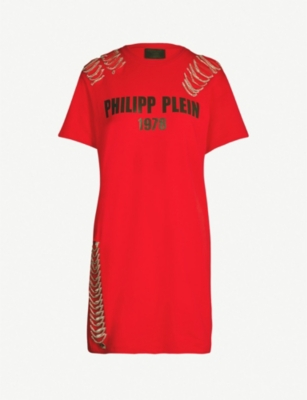 PHILIPP PLEIN Logo-print embellished cotton-jersey T-shirt