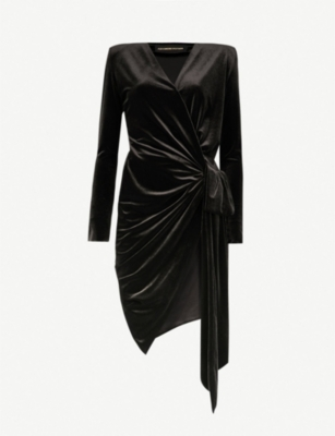 ALEXANDRE VAUTHIER Wrap-over velvet dress