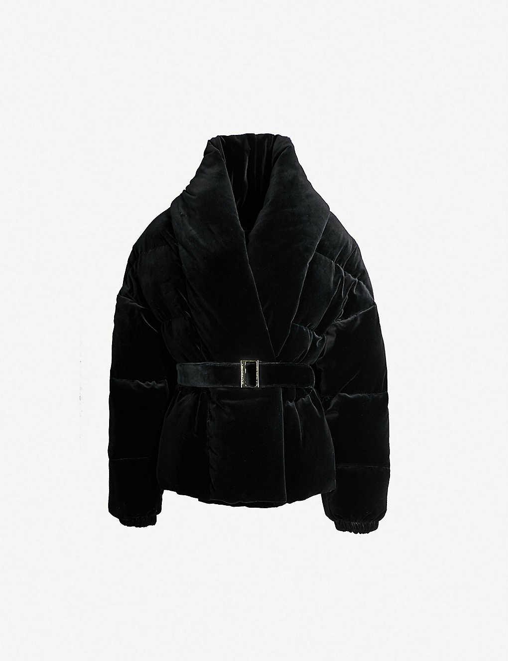 82286241 ALEXANDRE VAUTHIER - Velvet-down puffer jacket | Selfridges.com