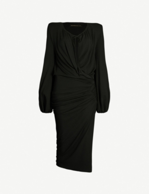 ALEXANDRE VAUTHIER Ruched wrap-style stretch-jersey dress