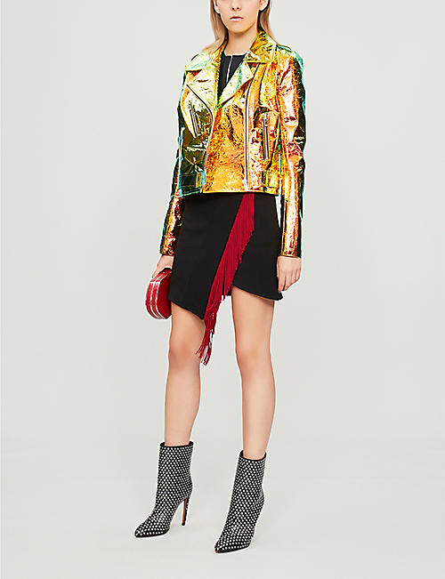 ALEXANDRE VAUTHIER Iridescent leather jacket