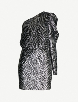 ALEXANDRE VAUTHIER Striped sequinned mini dress