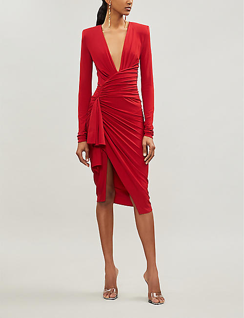 ALEXANDRE VAUTHIER Plunging V-neck crepe dress