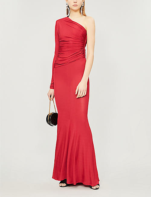 ALEXANDRE VAUTHIER One-shoulder ruched gown