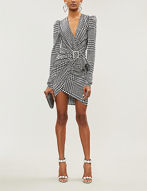 ALEXANDRE VAUTHIER Ruched V-neck wrap-front silk dress