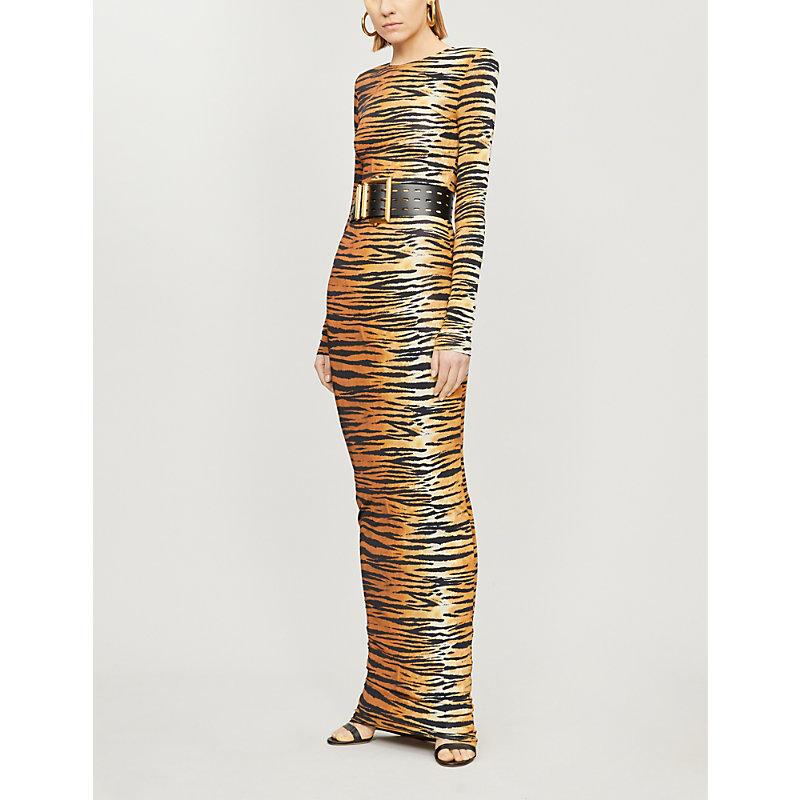 Alexandre Vauthier Dresses TIGER-PRINT STRETCH-JERSEY MAXI DRESS