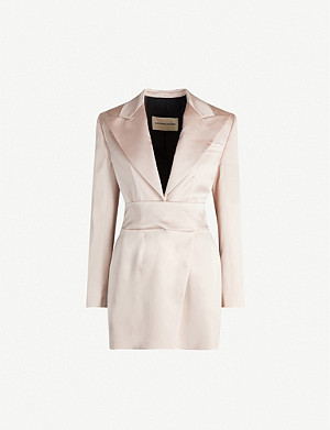 ALEXANDRE VAUTHIER Notch-lapel satin tuxedo mini dress