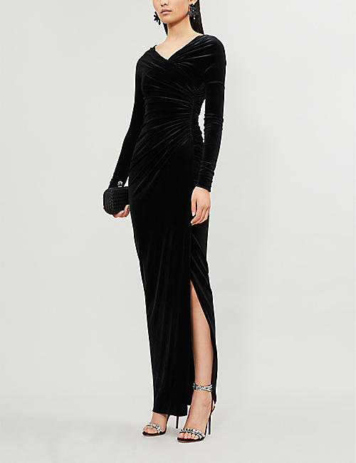 ALEXANDRE VAUTHIER Off-the-shoulder stretch-velvet gown