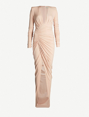 ALEXANDRE VAUTHIER Plunging V-neck stretch-jersey dress