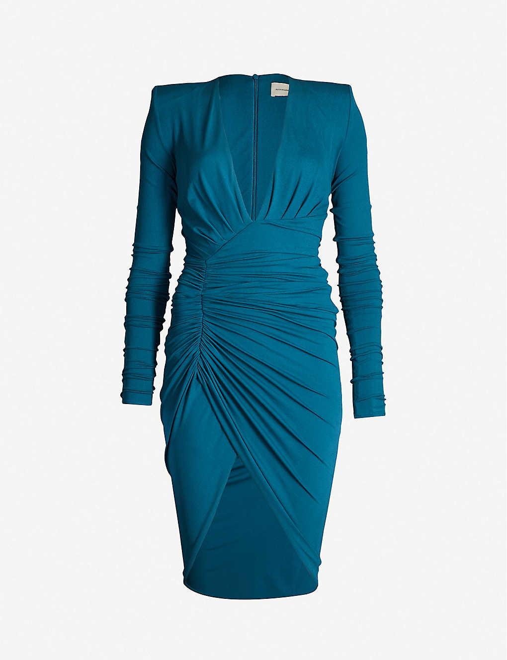 9e3de41b ALEXANDRE VAUTHIER - Plunging V-neck stretch-jersey dress ...