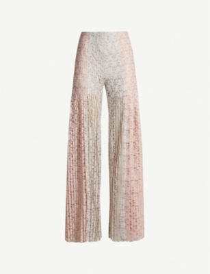 HUISHAN ZHANG Mariela flared stretch-lace trousers
