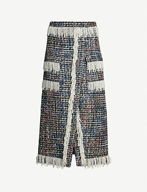 HUISHAN ZHANG Victoria bead-embellished tweed skirt