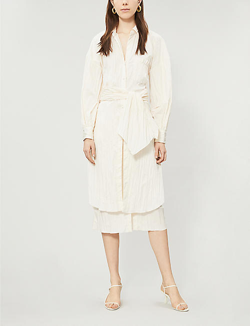 JOHANNA ORTIZ Long-sleeved woven shirt dress