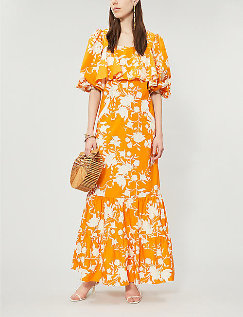JOHANNA ORTIZ Listen To Your Heart floral-print cotton maxi dress