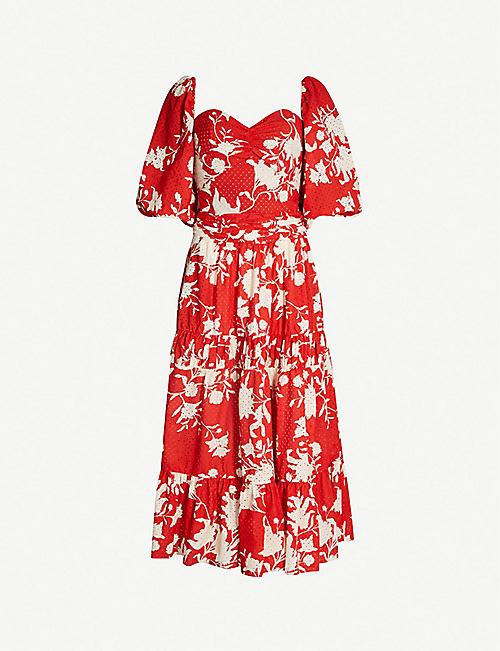 e0e7f45ea0a JOHANNA ORTIZ Beautiful Chaos floral-print cotton midi dress
