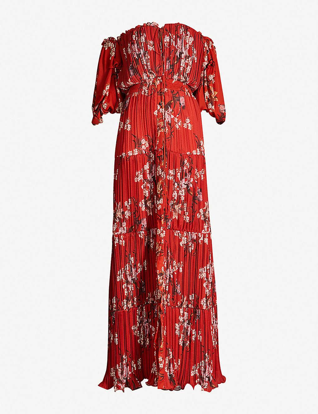 57aa8ecb82a JOHANNA ORTIZ - Viajes del Alma off-the-shoulder woven maxi dress ...