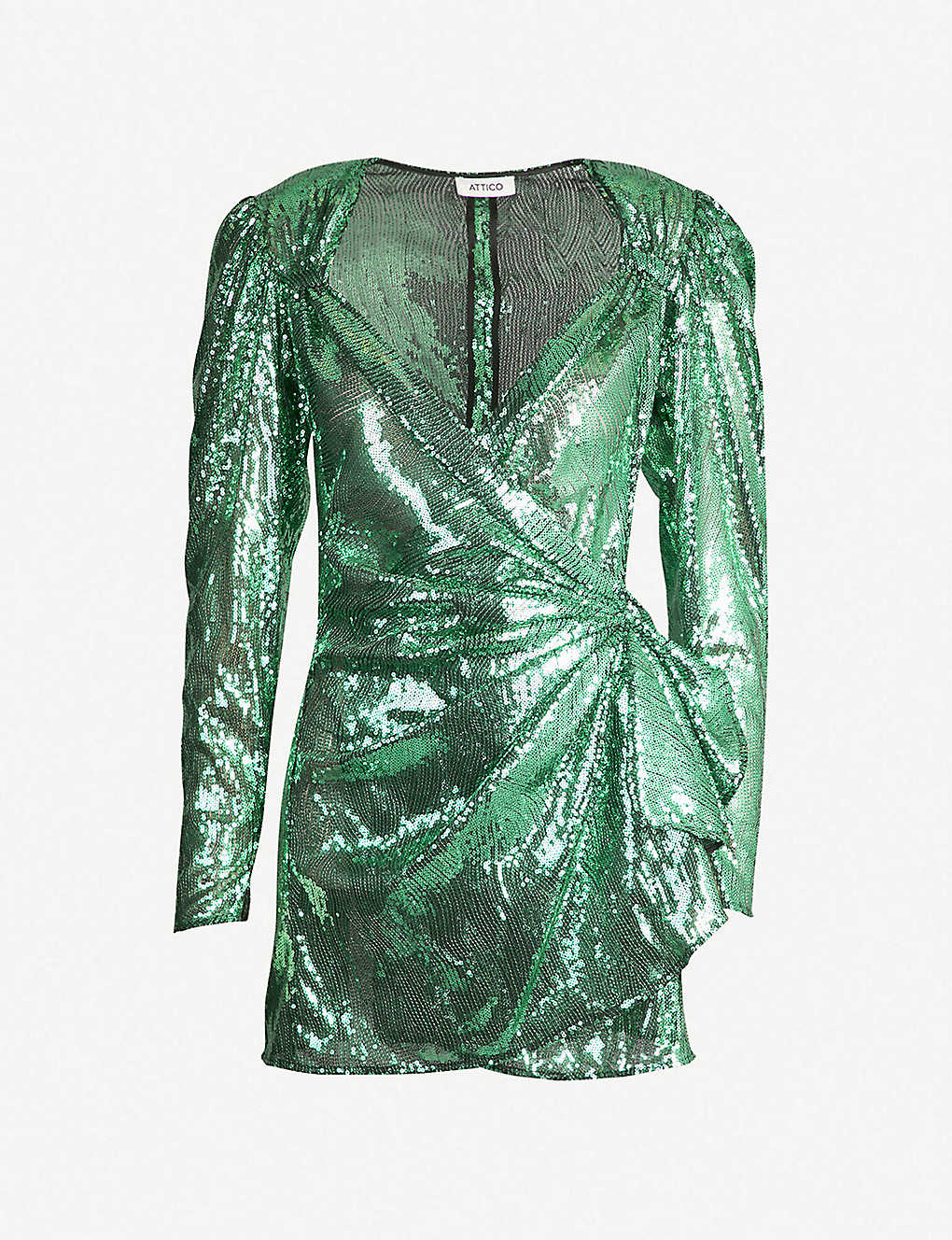 1ff3ad80bce2 ATTICO - Wrap-over sequinned mini dress | Selfridges.com