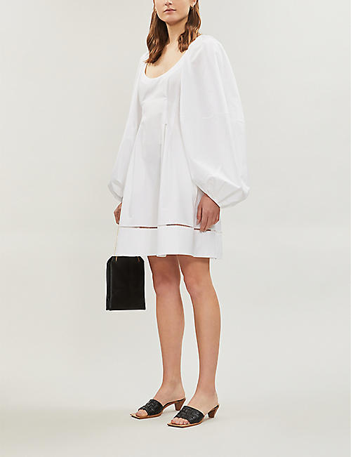 KHAITE Madison balloon-sleeved cottton-poplin dress