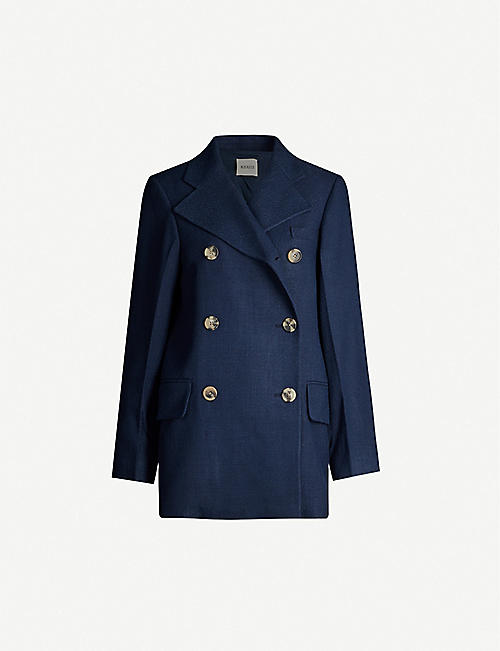 KHAITE Clara double-breasted woven blazer