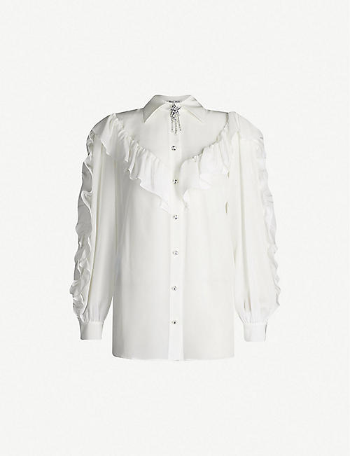 71bd98efc0b MIU MIU - Shirts   blouses - Tops - Clothing - Womens - Selfridges ...