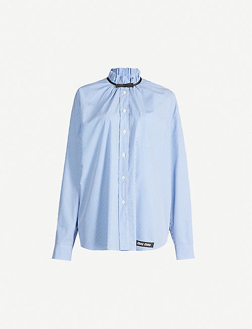 MIU MIU Gingham cotton shirt