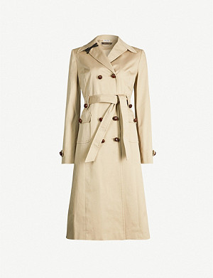 MIU MIU Double-breasted stretch-cotton twill trench coat