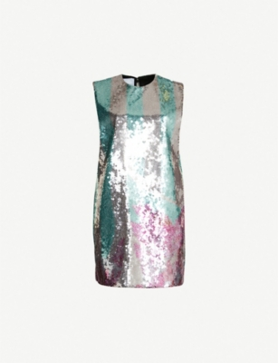 HALPERN Sequinned mini dress