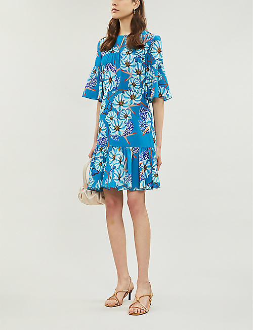 BORGO DE NOR Alba floral-print crepe mini dress