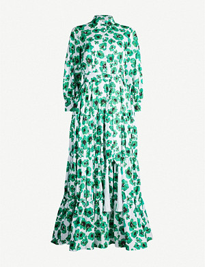 BORGO DE NOR Clara floral-printed cotton maxi dress