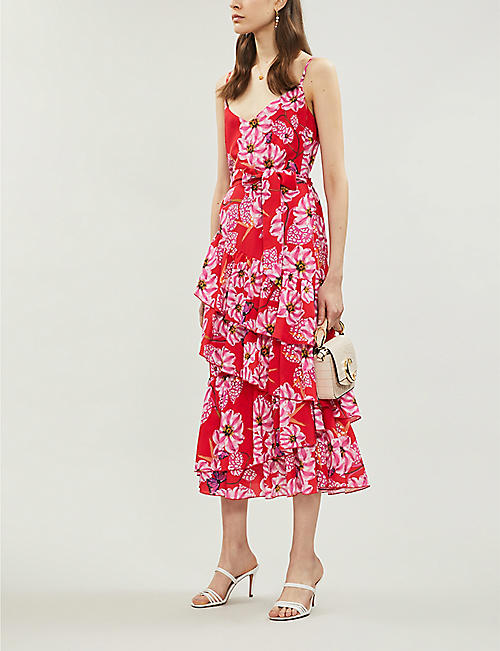 BORGO DE NOR Coco floral-pattern crepe midi dress