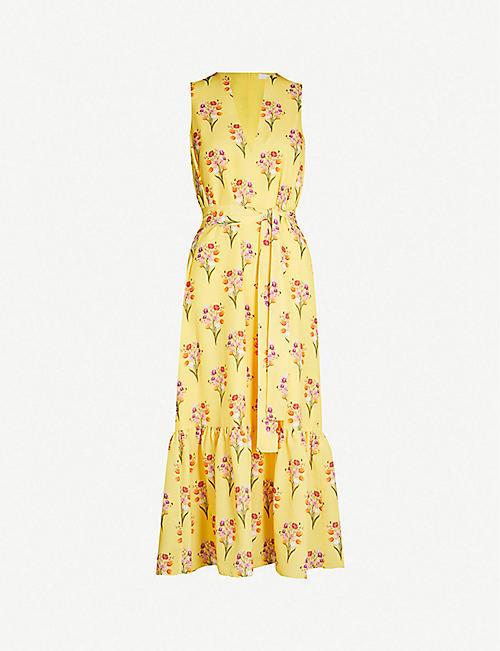 c66d2fdd76 BORGO DE NOR Florence floral print V-neck sleeveless crepe dress